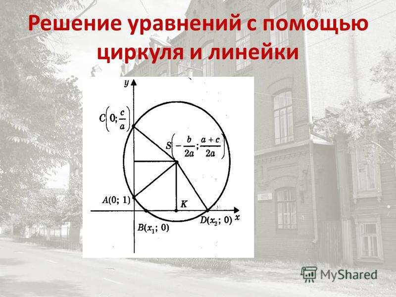 Решение уравнений с помощью циркуля и линейки