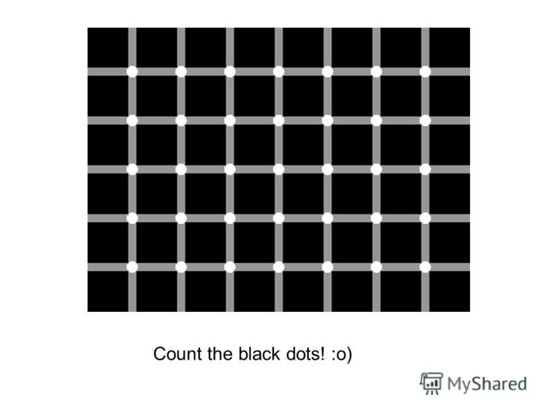 Count the black dots! :o)