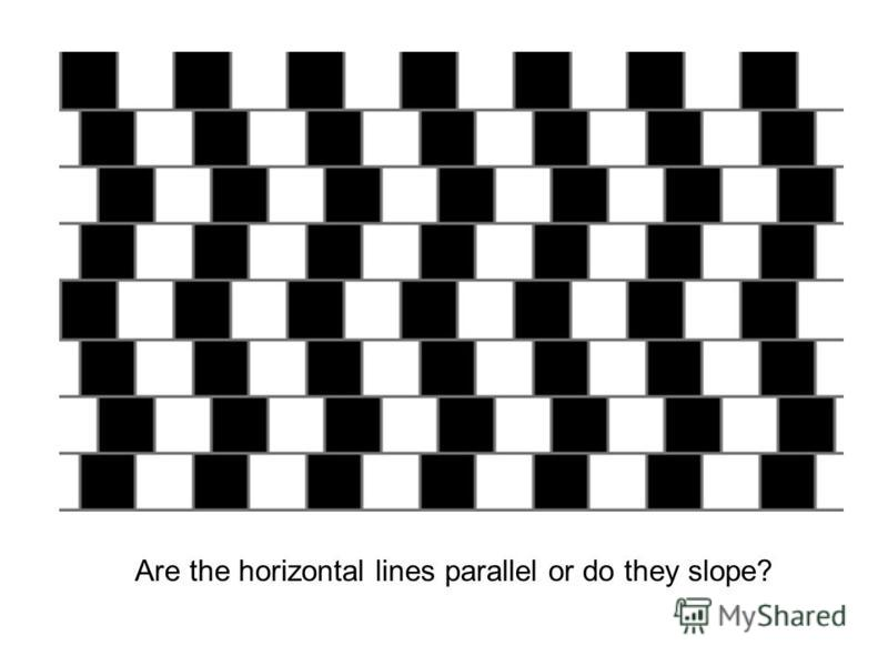 Are the horizontal lines parallel or do they slope?