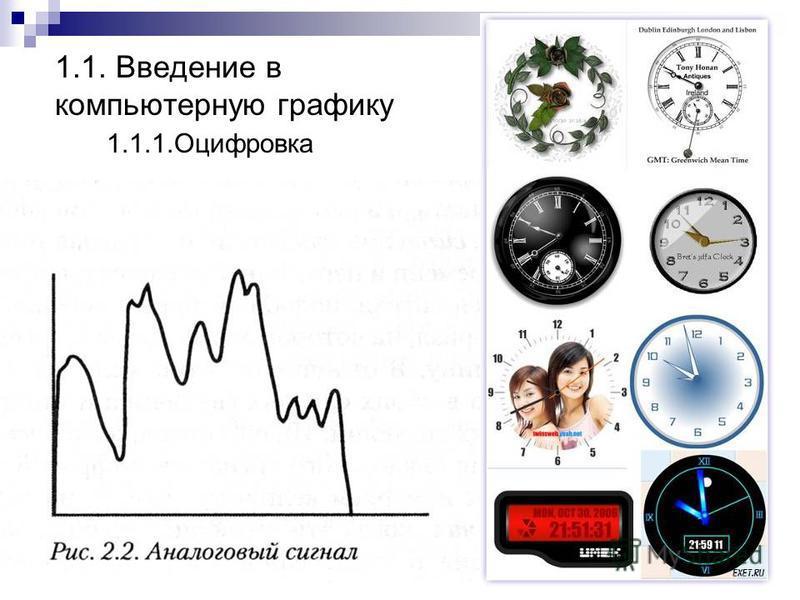 1.1. Введение в компьютерную графику 1.1.1.Оцифровка