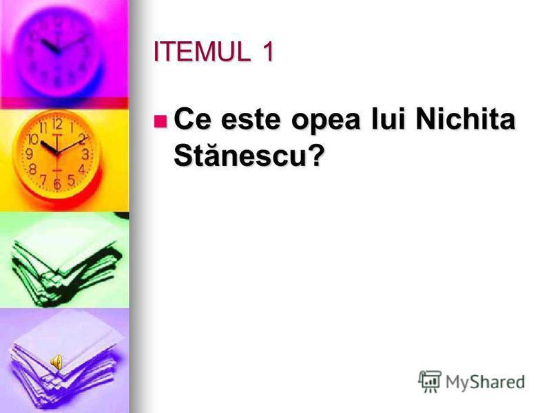 Runda a II – a Nichita Stănescu