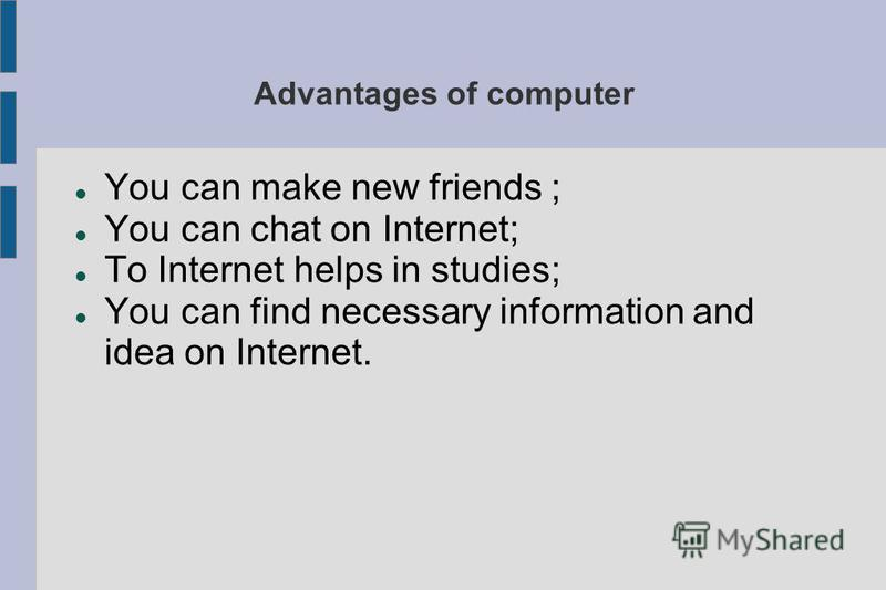 computer advantages and disadvantages Some of the disadvantages of computers include an over-reliance on technology, vulnerability to cyber-crime, increased potential for distraction and various negative social effects while computers offer numerous benefits, many of the conveniences they create also lead to potential problems .