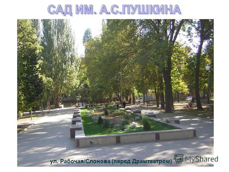 ул. Рабочая/Слонова (перед Драмтеатром)