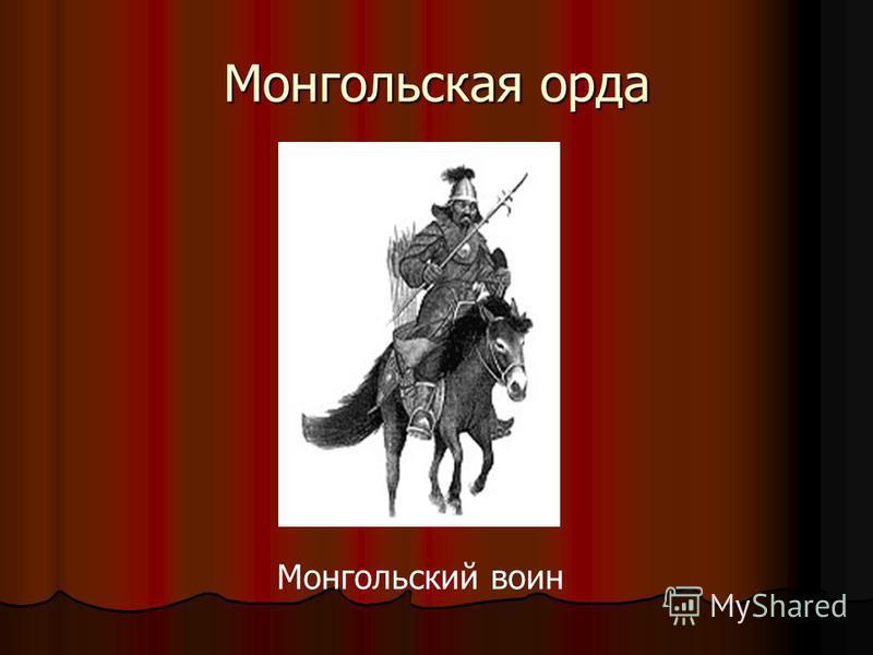 Монгольская орда Монгольский воин