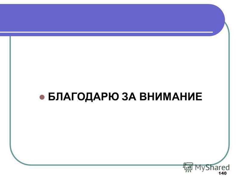 140 БЛАГОДАРЮ ЗА ВНИМАНИЕ