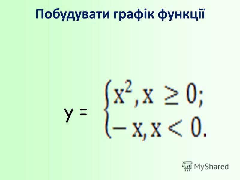 Побудувати графік функції у =