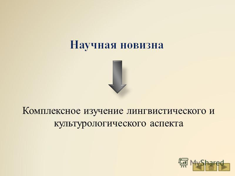 Комплексное изучение лингвистического и культурологического аспекта