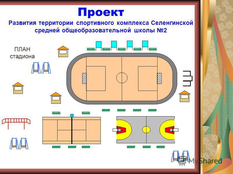 Проект Развития территории спортивного комплекса Селенгинской средней общеобразовательной школы 2 ПЛАН стадиона