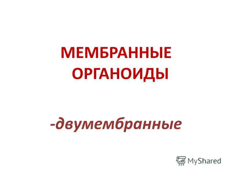 МЕМБРАННЫЕ ОРГАНОИДЫ -двумембранные