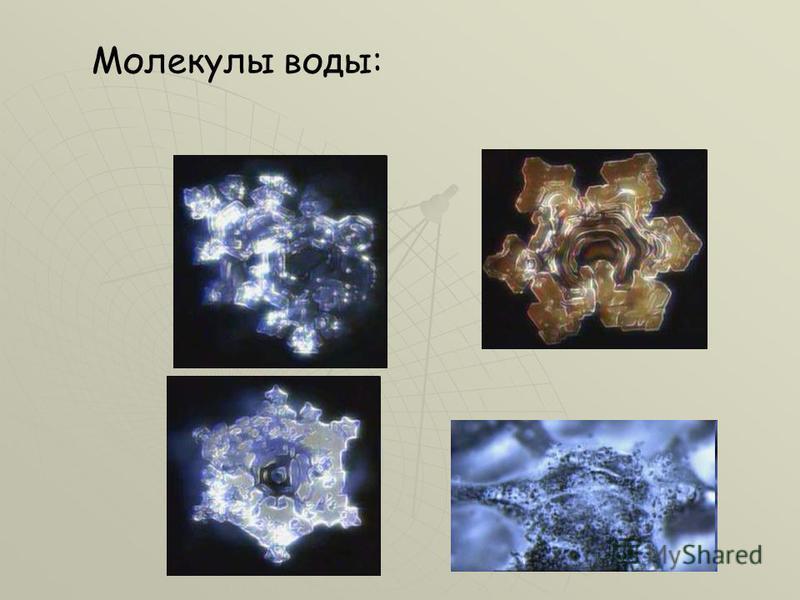 Молекулы воды: