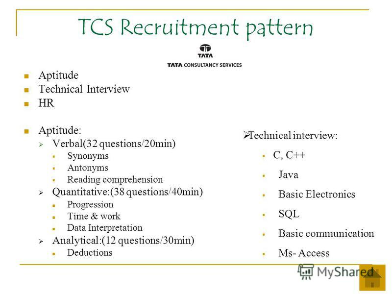written paper of tcs