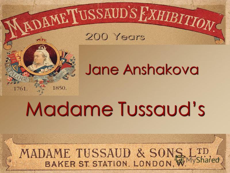 Madame Tussauds Jane Anshakova