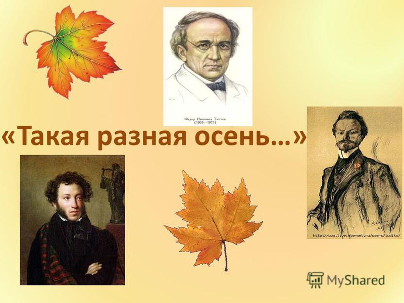 «Такая разная осень…»