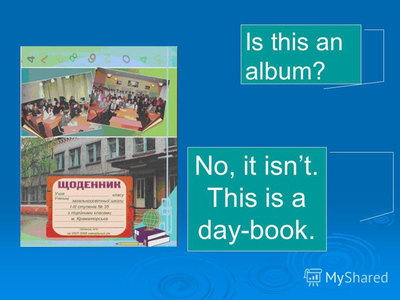 Is this an album? No, it isnt. This is a day-book.