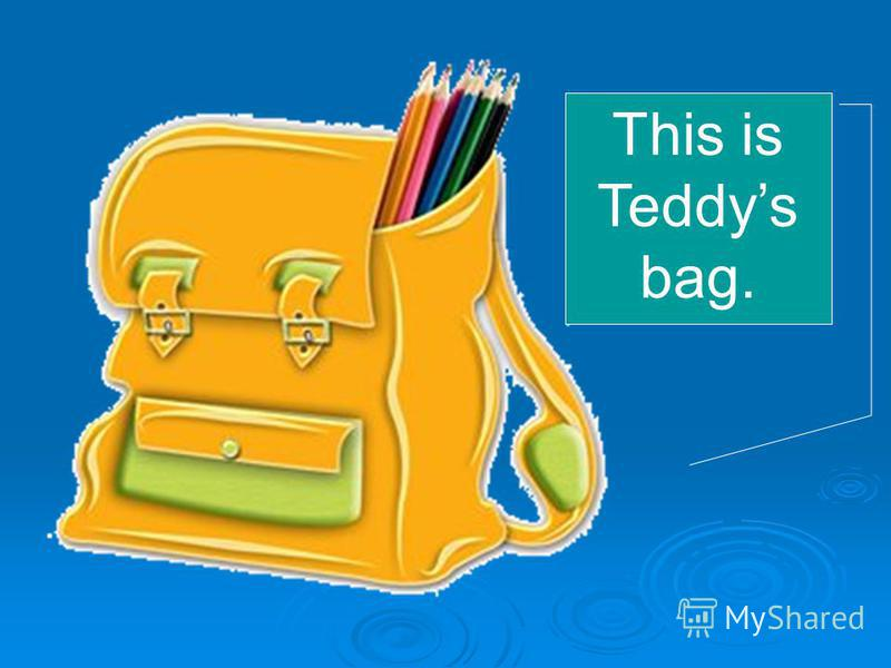 This is Teddys bag.