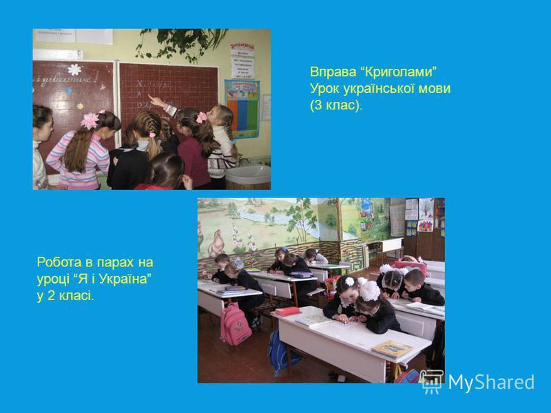 Вправа Криголами Урок української мови (3 клас). Робота в парах на уроці Я і Україна у 2 класі.