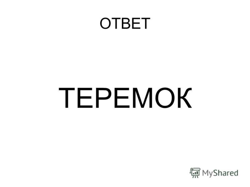 ОТВЕТ ТЕРЕМОК