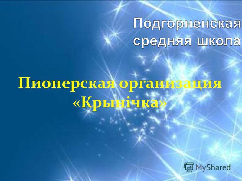 Пионерская организация «Крынічка»