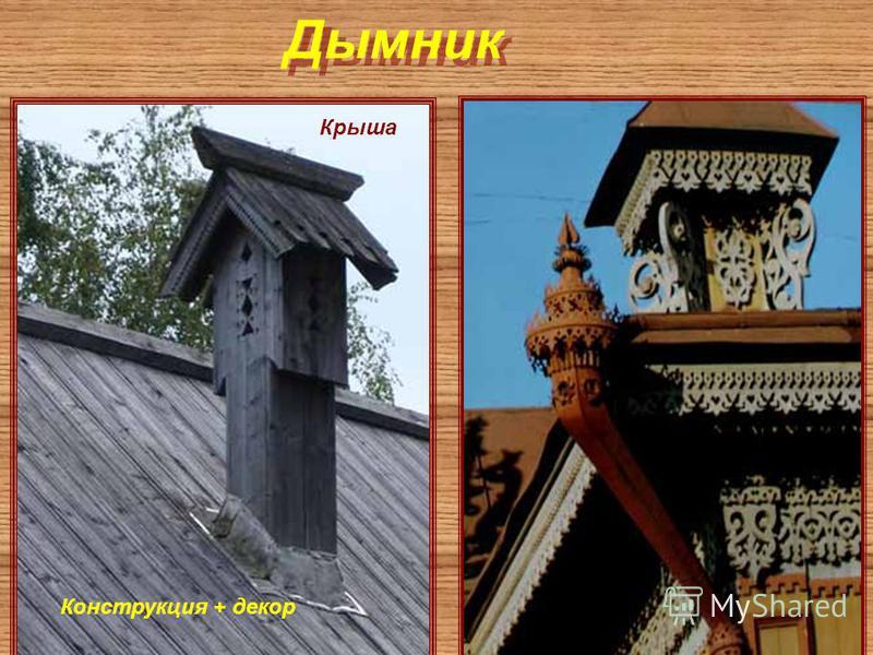 Дымник Крыша Конструкция + декор