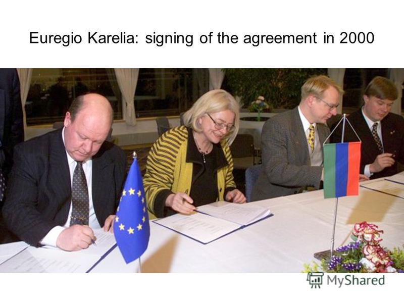 Euregio Karelia: signing of the agreement in 2000
