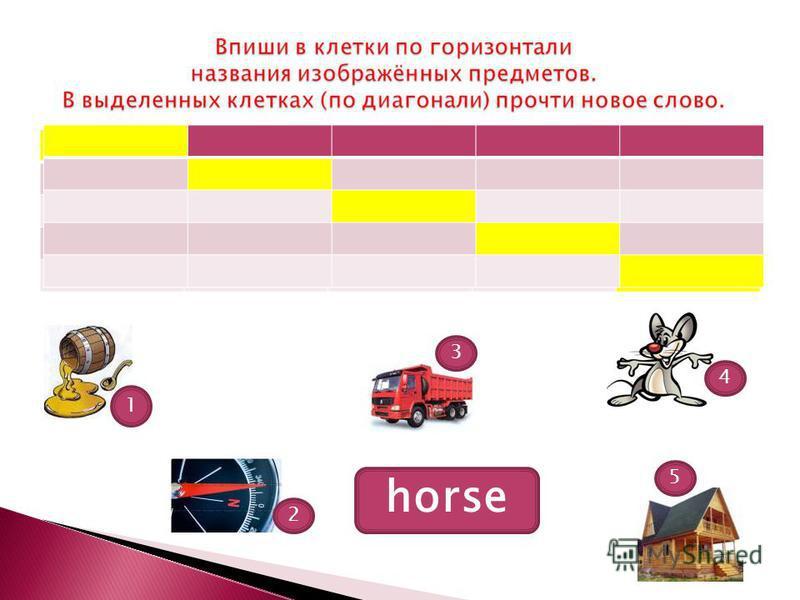 5 3 2 4 1 horse