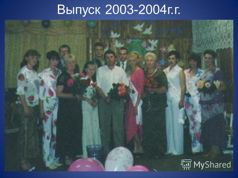 Выпуск 2003-2004 г.г.