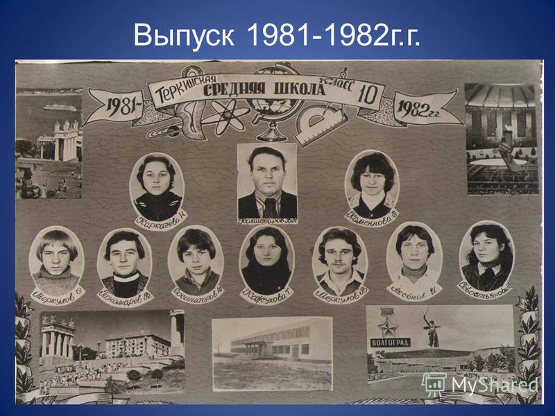 Выпуск 1981-1982 г.г.