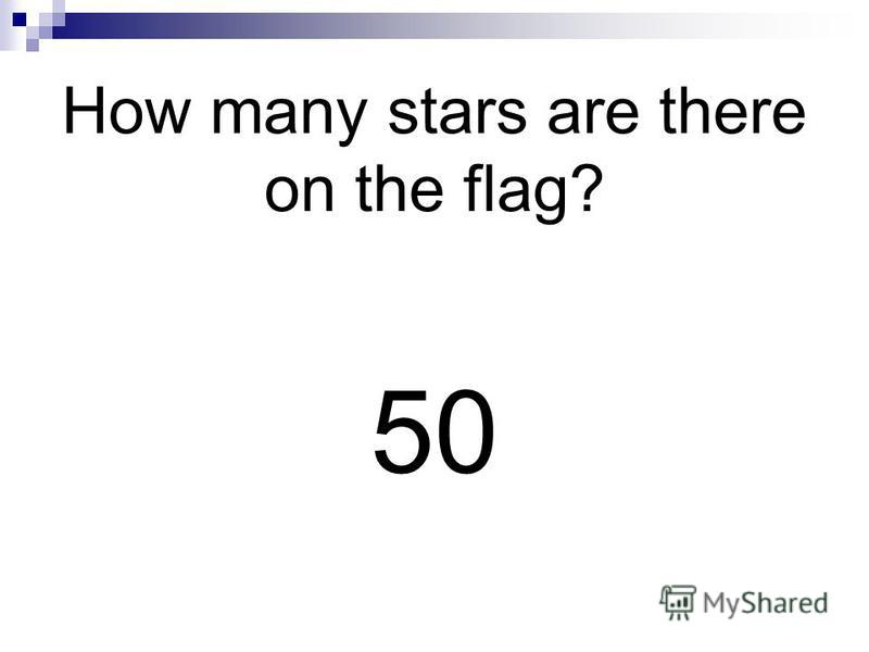 How many stars are there on the flag? 50