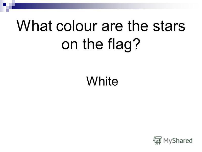 What colour are the stars on the flag? White