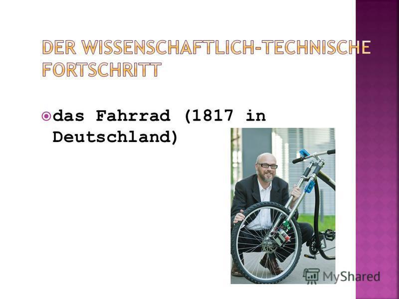 das Fahrrad (1817 in Deutschland)