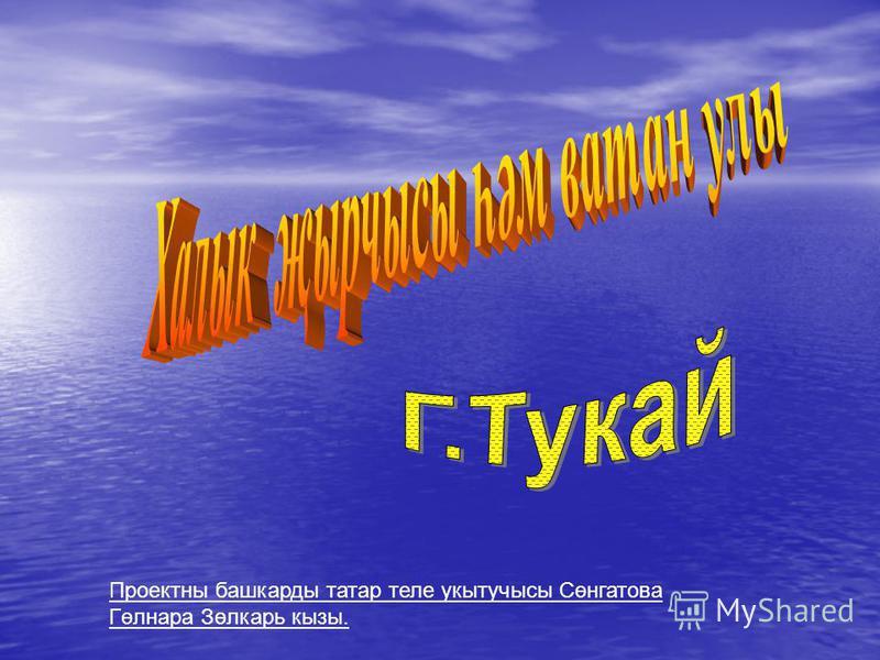 Проектны башкарды татар теле укытучысы Сөнгатова Гөлнара Зөлкарь кызы.