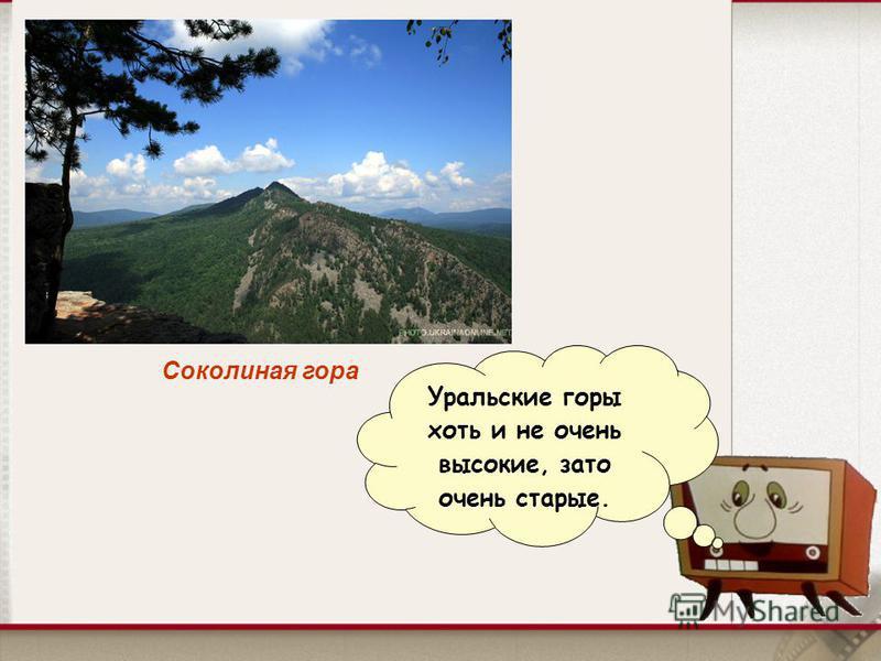Соколиная гора Уральские горы хоть и не очень высокие, зато очень старые.