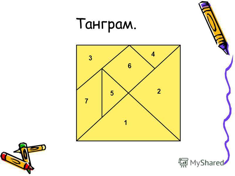 Танграм. 1 2 7 5 6 4 3