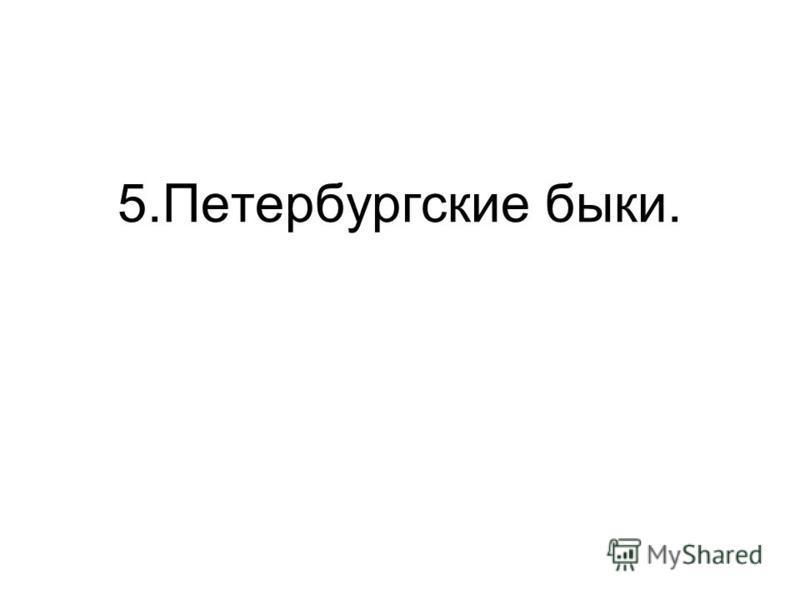 5. Петербургские быки.