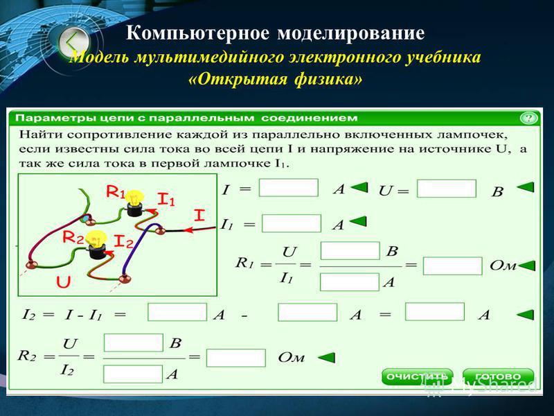 Компьютерное моделирование Модель мультимедийного электронного учебника «Открытая физика»