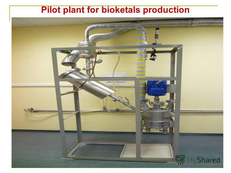 Pilot plant for bioketals production