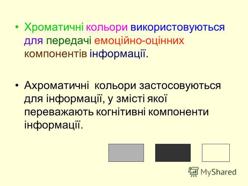 Протягом уроку учні привчаються реагувати на визначений колір і шрифт як на маркери типологічних рядів, наприклад, синій колір – поняття, бузковий колір – нові терміни, зелений колір – ключові слова тексту тощо.
