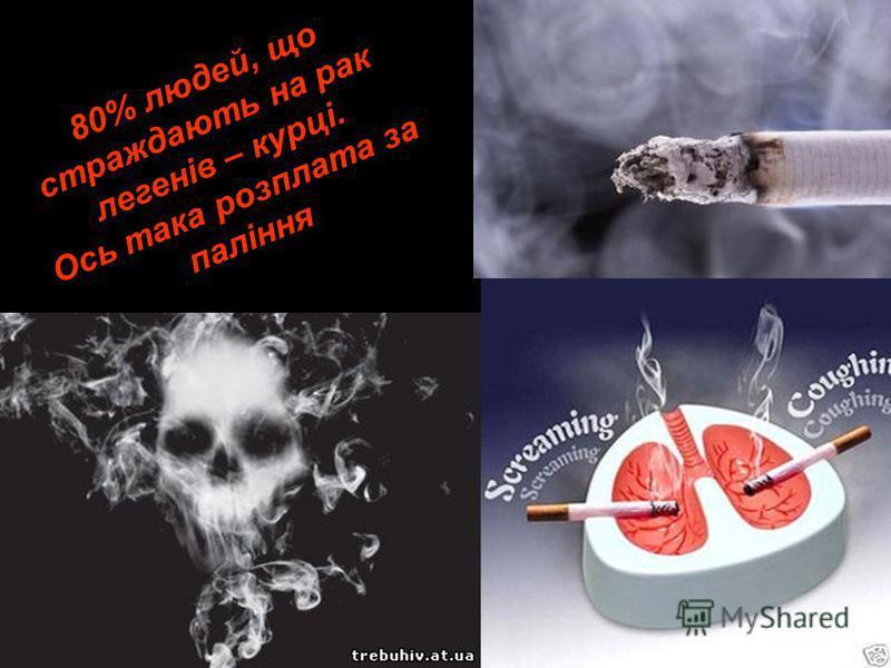80% людей, що страждають на рак легенів – курці. Ось така розплата за паління 80% людей, що страждають на рак легенів – курці. Ось така розплата за паління