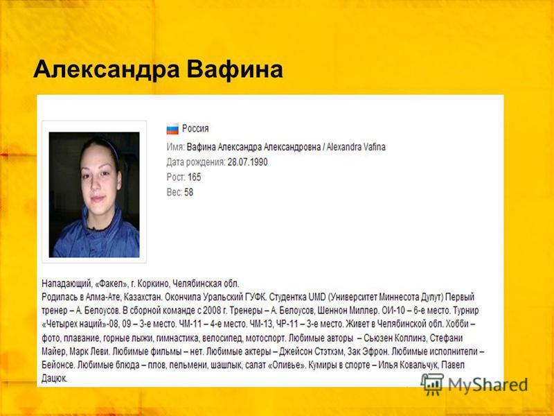 Александра Вафина