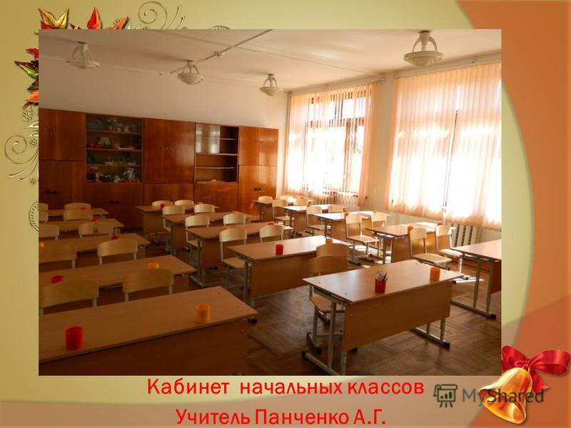Кабинет начальных классов Учитель Панченко А.Г.