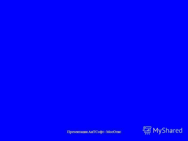 Презентация Аи ТСофт - Мос Отис 6 АиТ:Управление персоналом Зарплата Кадры Планирование и учет рабочего времени Учет выполненных работ Персонифицированная налоговая и пенсионная отчетность Планирование штатных расписаний Организатор Конфигурация рабо