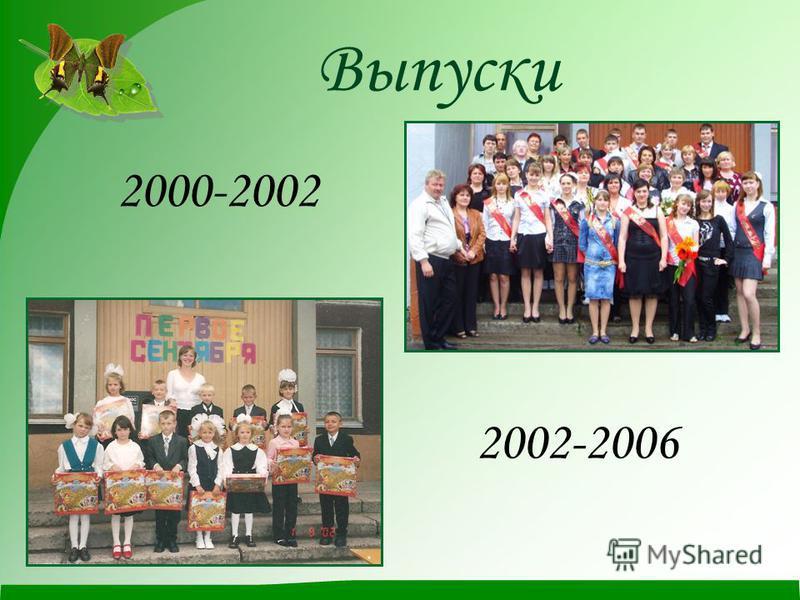 Выпуски 2000-2002 2002-2006