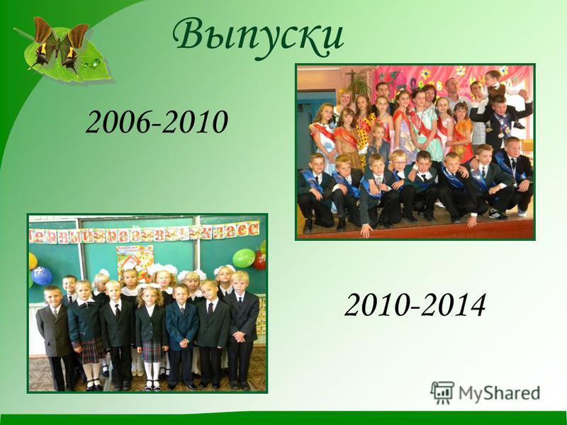 Выпуски 2006-2010 2010-2014
