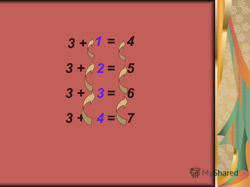 3 + 234234 = 5 = 6 = 7 3 + 1= 4
