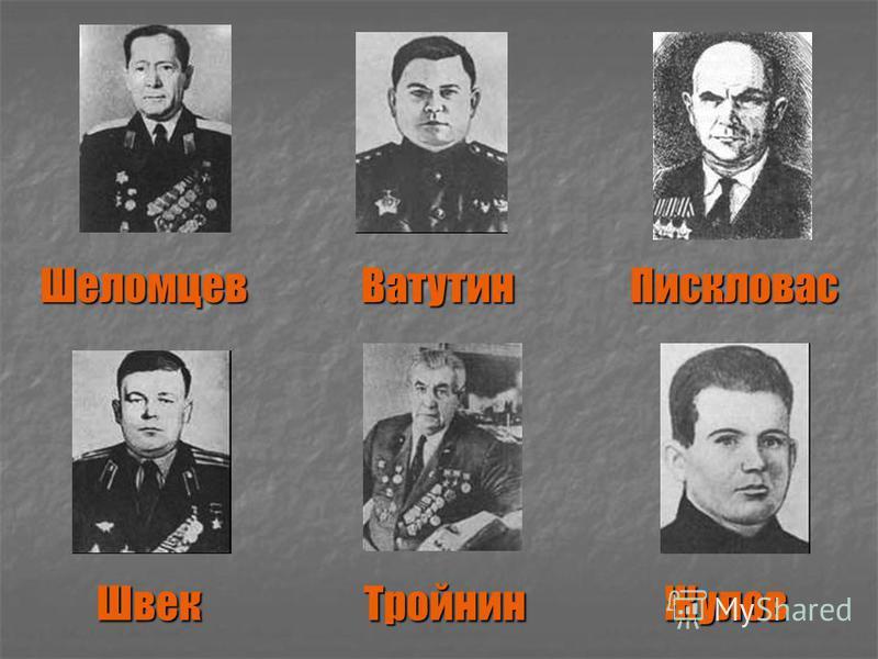 Шеломцев Ватутин Пискловас Швек Тройнин Жулов