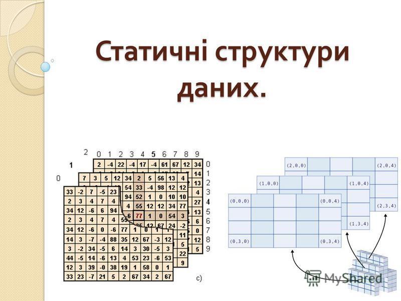 Статичні структуры даних.