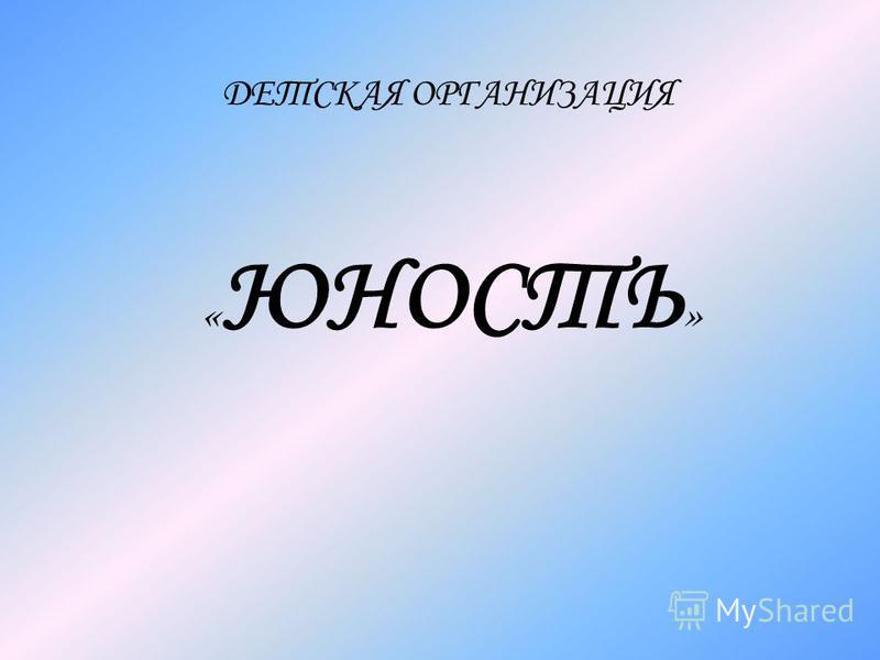 « ЮНОСТЬ » ДЕТСКАЯ ОРГАНИЗАЦИЯ