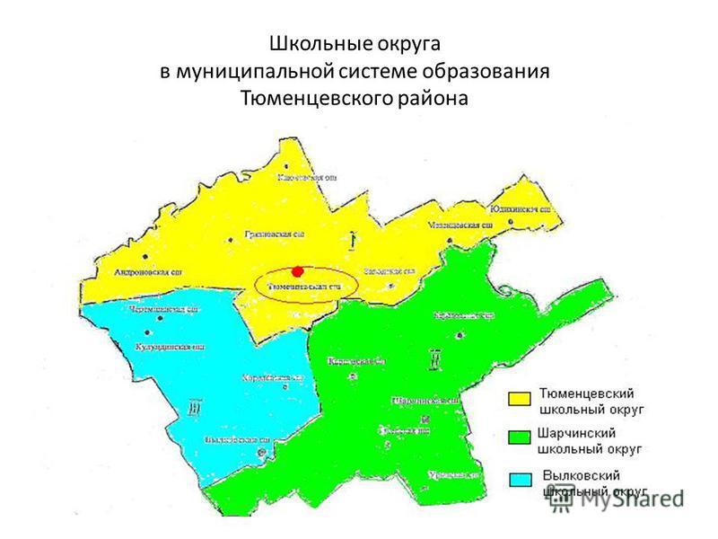 Школьные округа в муниципальной системе образования Тюменцевского района