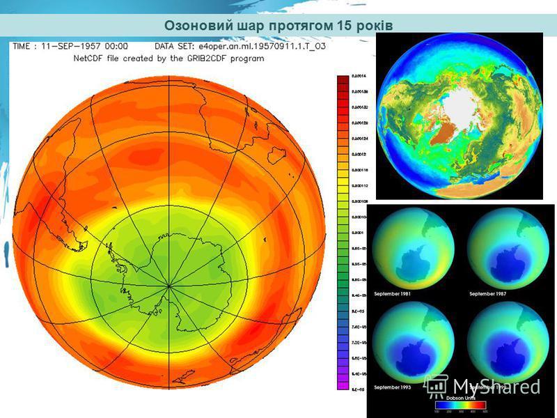 Озоновий шар протягом 15 років