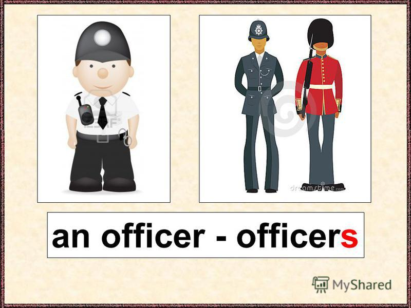 an officer - officers